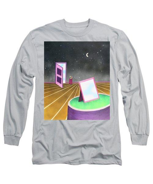 Night Long Sleeve T-Shirt by Thomas Blood