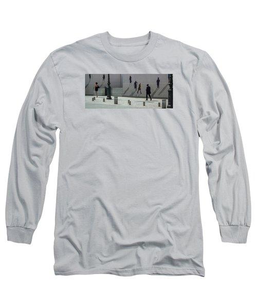 Nine Pedestrians At Place Vendome Long Sleeve T-Shirt