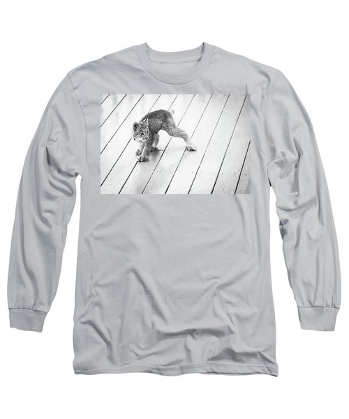 Ninja Lynx Kitty Bw Long Sleeve T-Shirt