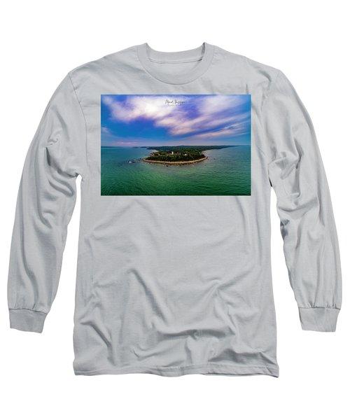 Nobska Lighthouse Panorama Long Sleeve T-Shirt