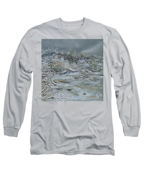 Long Sleeve T-Shirt featuring the painting Nor'easter by Judith Rhue
