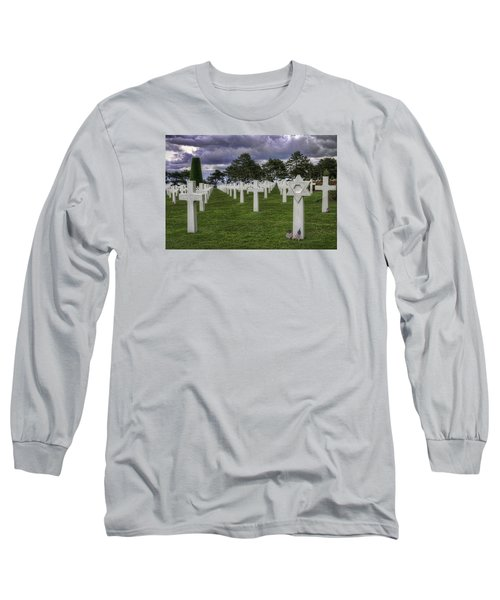 Normandy American Cemetery Long Sleeve T-Shirt