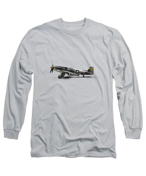 North American P-51 Mustang Long Sleeve T-Shirt by Douglas Pittman