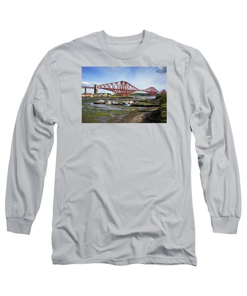 Long Sleeve T-Shirt featuring the photograph North Queensferry by Jeremy Lavender Photography