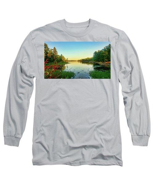 Northern Ontario Lake Long Sleeve T-Shirt