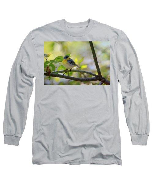 Northern Parula Long Sleeve T-Shirt by Gary Hall