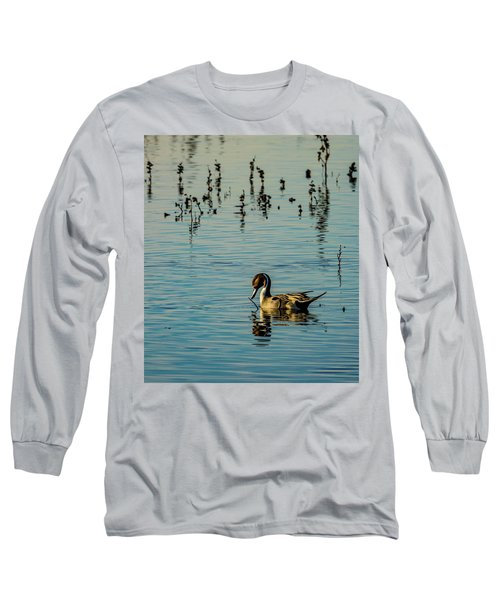 Northern Pintail At The Wetlands Long Sleeve T-Shirt
