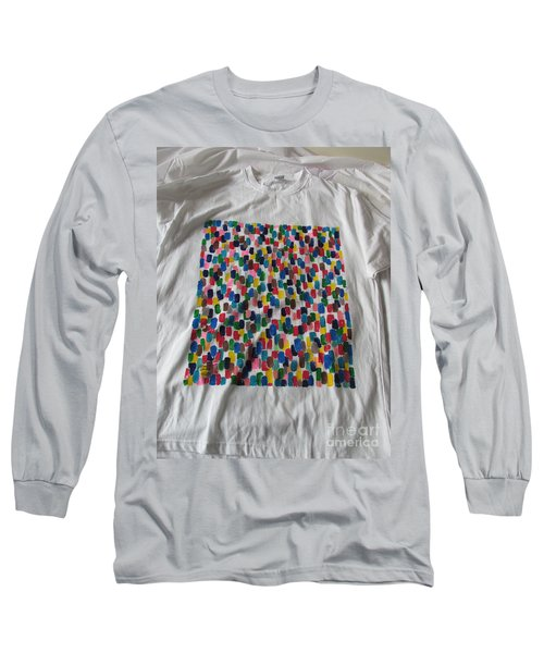Long Sleeve T-Shirt featuring the painting Northwood Way by Mudiama Kammoh