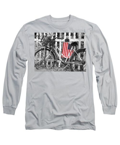 Nostalgic Collection-b And W Long Sleeve T-Shirt
