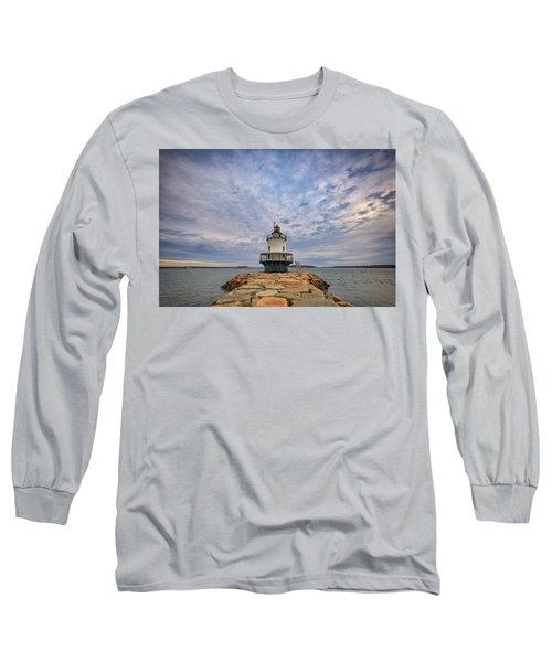 November Morn At Spring Point Ledge Light Station Long Sleeve T-Shirt