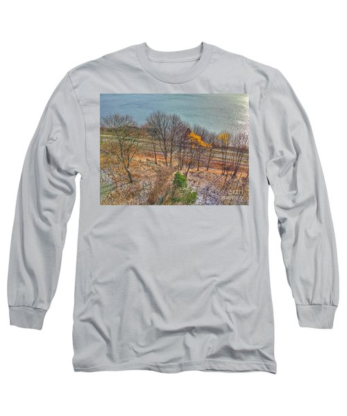 November Snow On Casco Bay Long Sleeve T-Shirt