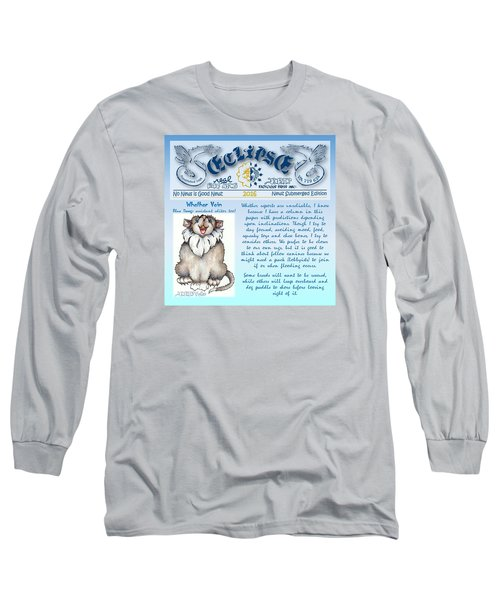 Real Fake News Blue Dawg Excerpt Long Sleeve T-Shirt