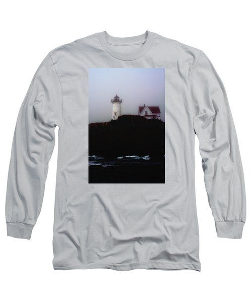 Nubble Light House Long Sleeve T-Shirt by Richard Ortolano