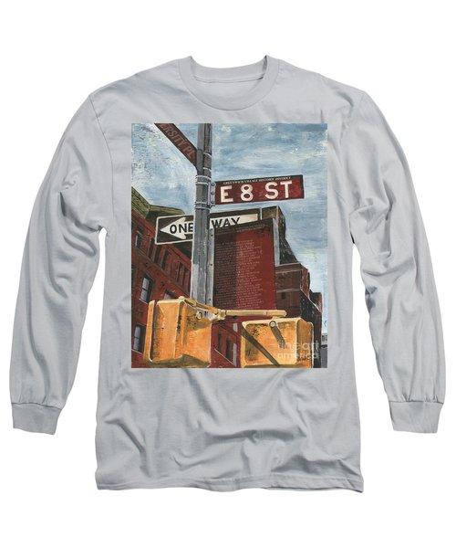 Nyc 8th Street Long Sleeve T-Shirt