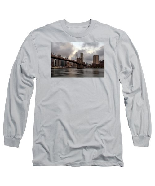 Long Sleeve T-Shirt featuring the photograph Nyc In The Am by Anthony Fields