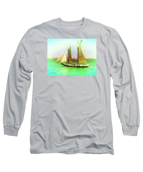 Nyc Sailing Long Sleeve T-Shirt by Denise Tomasura