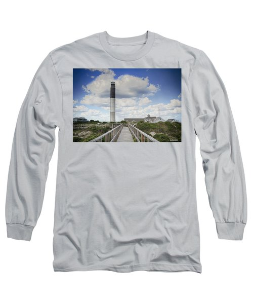 Long Sleeve T-Shirt featuring the photograph Oak Island Lighthouse by Phil Mancuso