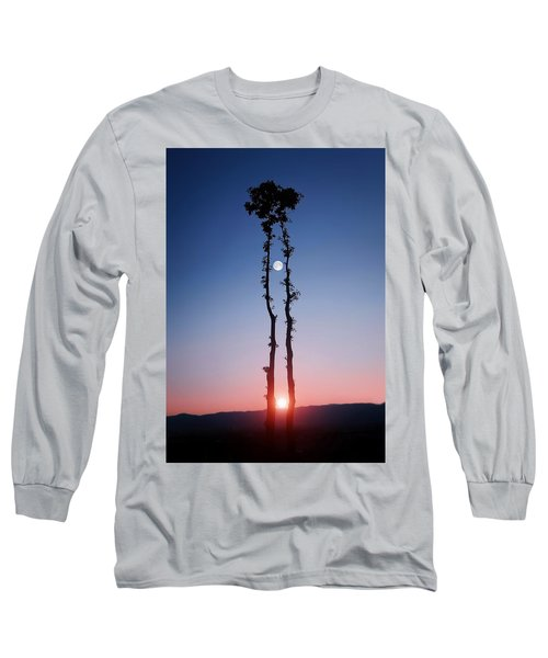 Long Sleeve T-Shirt featuring the photograph Oak Kissing by Bess Hamiti