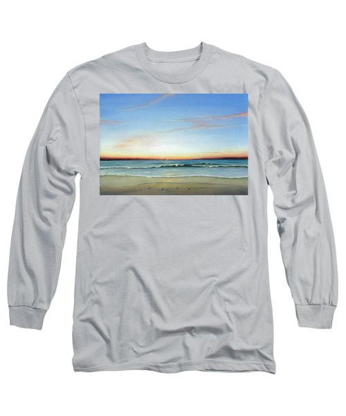 Long Sleeve T-Shirt featuring the painting Obx Sunrise by Albert Puskaric