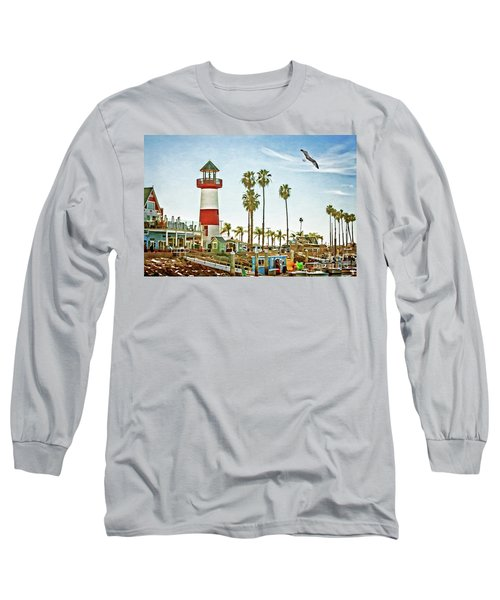 Oceanside Harbor Lighthouse Long Sleeve T-Shirt