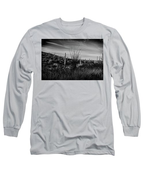 Ocotillo And Saguaros Long Sleeve T-Shirt