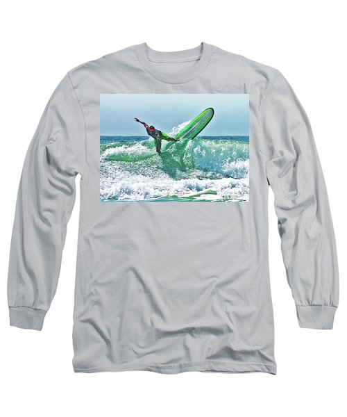 Long Sleeve T-Shirt featuring the digital art Off The Top by William Love