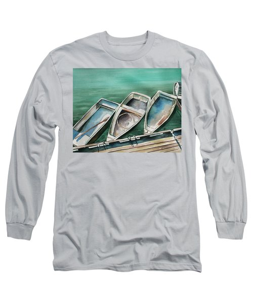 Ogunquit Maine Skiffs Long Sleeve T-Shirt