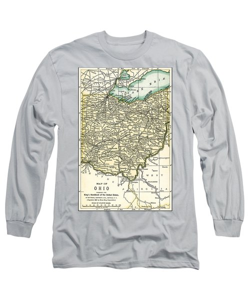 Ohio Antique Map 1891 Long Sleeve T-Shirt