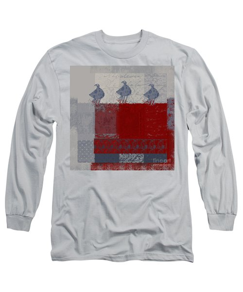 Long Sleeve T-Shirt featuring the digital art Oiselot - J106161103_02bb by Variance Collections
