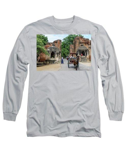 Old Bagan Long Sleeve T-Shirt by Werner Padarin