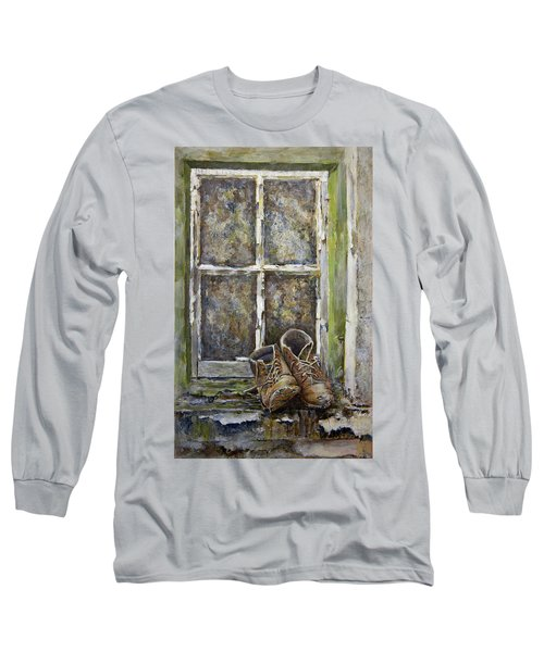 Old Boots Long Sleeve T-Shirt by Marty Garland