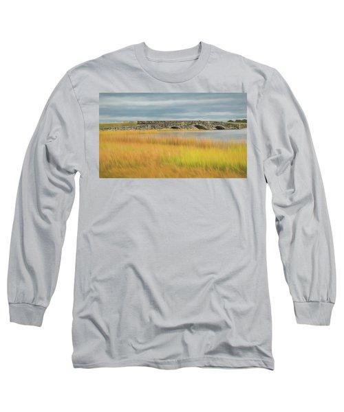 Old Bridge In Autumn Long Sleeve T-Shirt