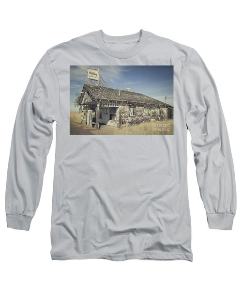 Long Sleeve T-Shirt featuring the photograph Old Gas Station by Robert Bales
