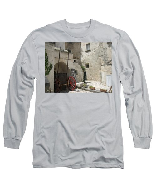 Old Horsecart In Matera Long Sleeve T-Shirt