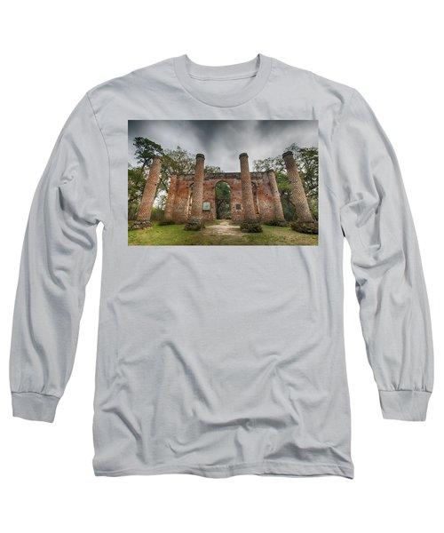 Old Sheldon Church Ruins Long Sleeve T-Shirt