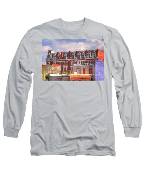 Old Town Wichita Kansas Long Sleeve T-Shirt by Juli Scalzi