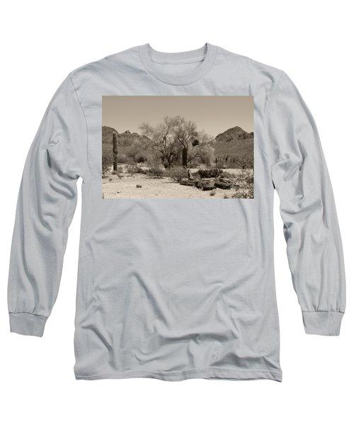 Old Tucson Landscape  Long Sleeve T-Shirt