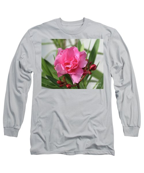 Long Sleeve T-Shirt featuring the photograph Oleander Splendens Giganteum 1 by Wilhelm Hufnagl