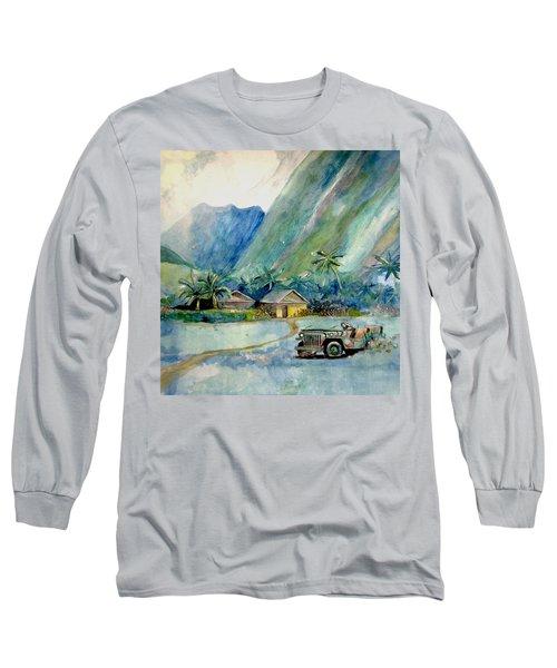 Olowalu Valley Long Sleeve T-Shirt by Ray Agius