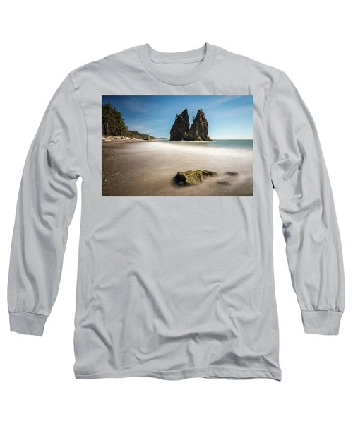 Long Sleeve T-Shirt featuring the photograph Olympic Shoreline by Pierre Leclerc Photography