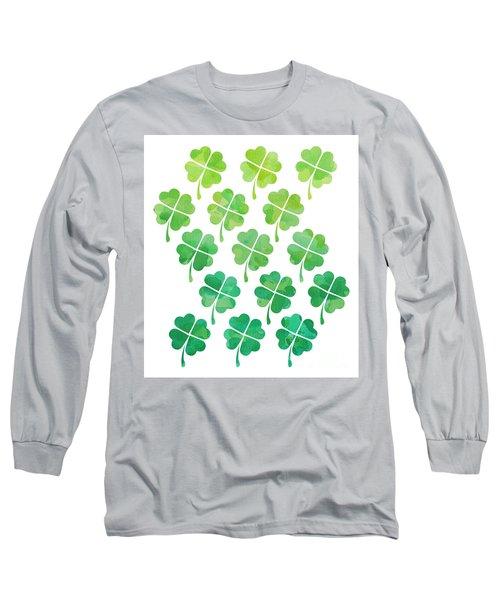 Ombre Shamrocks Long Sleeve T-Shirt by Whitney Morton