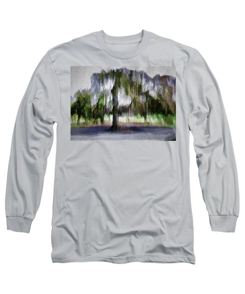 On A Rainy Day In Boston Long Sleeve T-Shirt