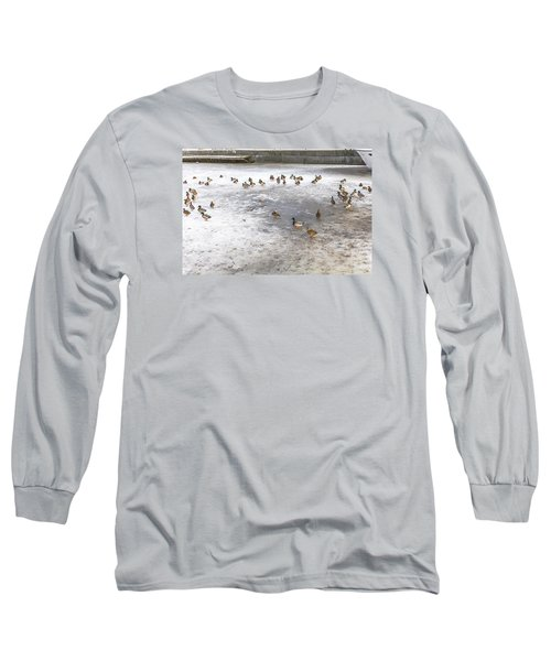 On Ice  Long Sleeve T-Shirt by Leif Sohlman