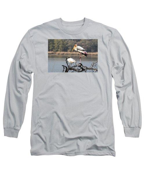 On One Leg Long Sleeve T-Shirt by Pravine Chester