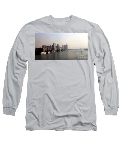 Long Sleeve T-Shirt featuring the photograph On The Nile River by Jason Sentuf