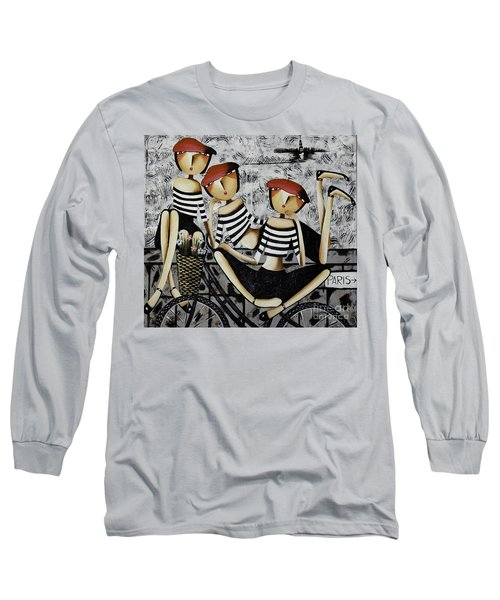 On The Way To  Paris Long Sleeve T-Shirt by Yurix Sardinelly