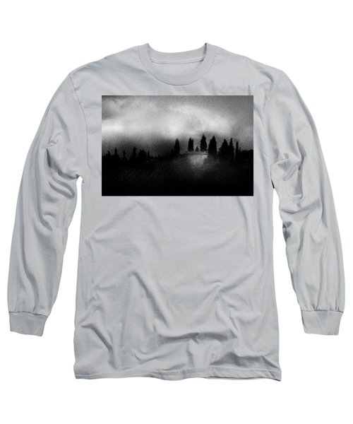 On Top Of The Hill Long Sleeve T-Shirt by Celso Bressan
