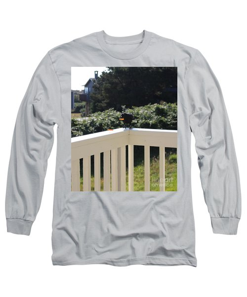 Long Sleeve T-Shirt featuring the photograph One In The Mouth Is Worth by Marie Neder
