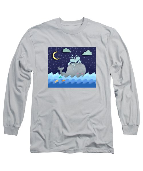 One Wonderful Whale With Fabulous Fishy Friends Long Sleeve T-Shirt by Little Bunny Sunshine