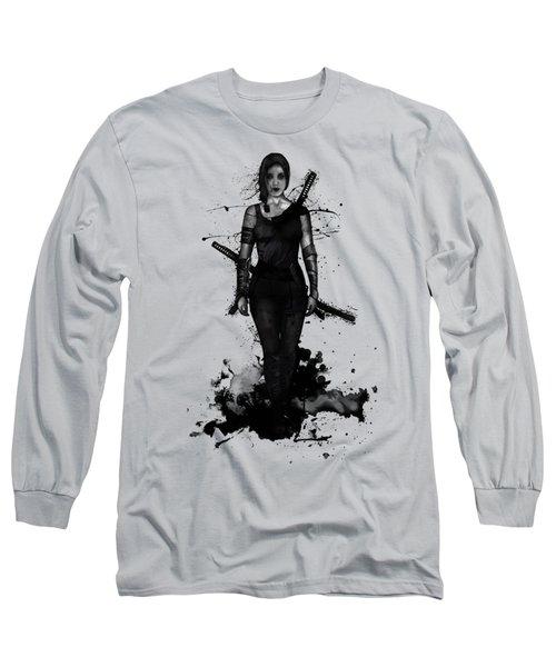 Long Sleeve T-Shirt featuring the digital art Onna Bugeisha by Nicklas Gustafsson